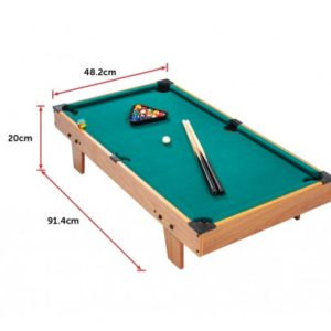 Kids Mini Billiard Table Game Toy Wooden Snooker Pool Home Fun