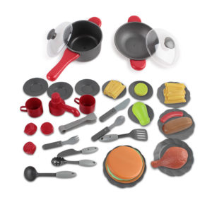 Keezi Kids Mini Chef Cookware Set – Red