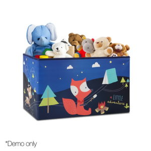 Kids Foldable Storage Toy Box – Blue